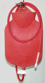 Open Top type Enema Bag w/  nozzle